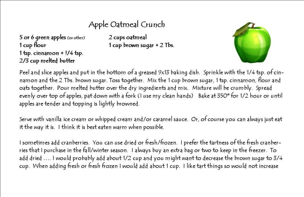Apple Oatmeal Crunch