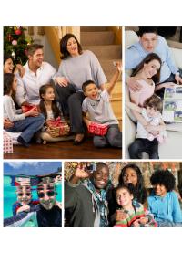 Family photo Christmas collage