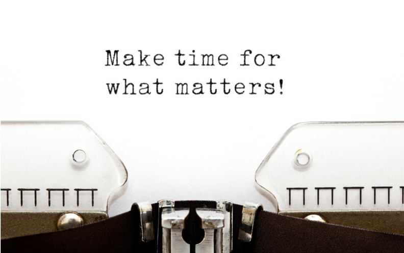 Make time for what matters for just say no post
