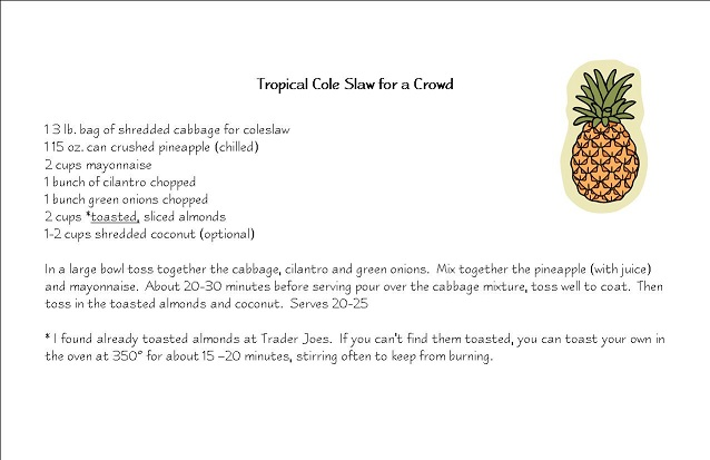 Tropical Cole Slaw for a Crowd Recipe